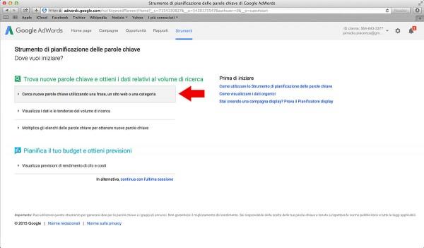 come utilizzare google adwords