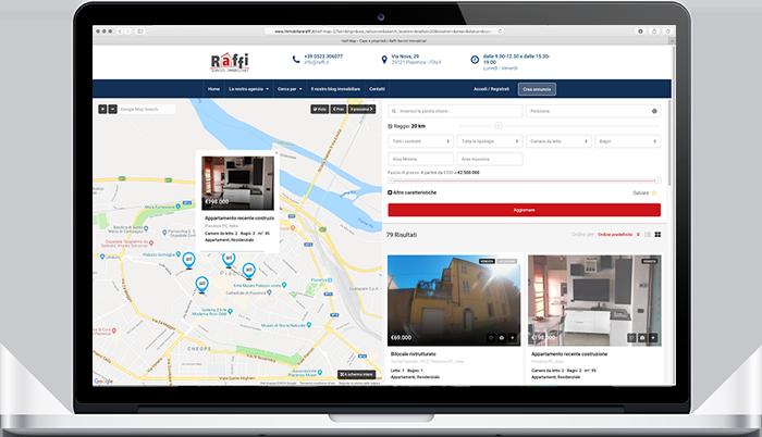 sito web immobiliare mappa immobili